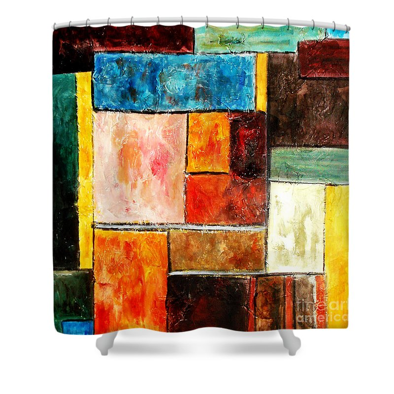 Acrylic Painting Shower Curtain featuring the painting Harmony by Yael VanGruber
