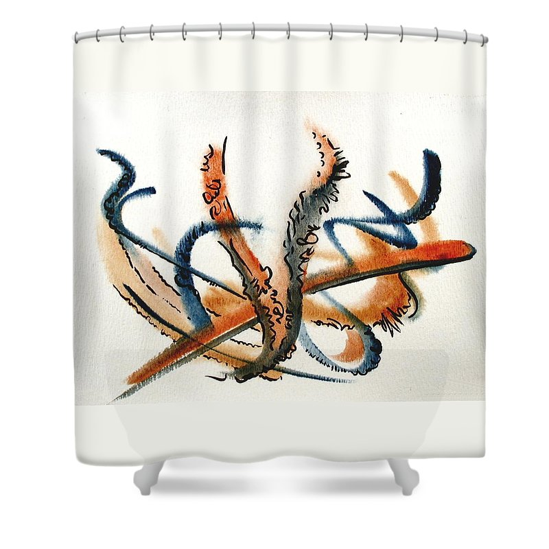 Watercolor Shower Curtain featuring the painting Harvest by Dave Martsolf