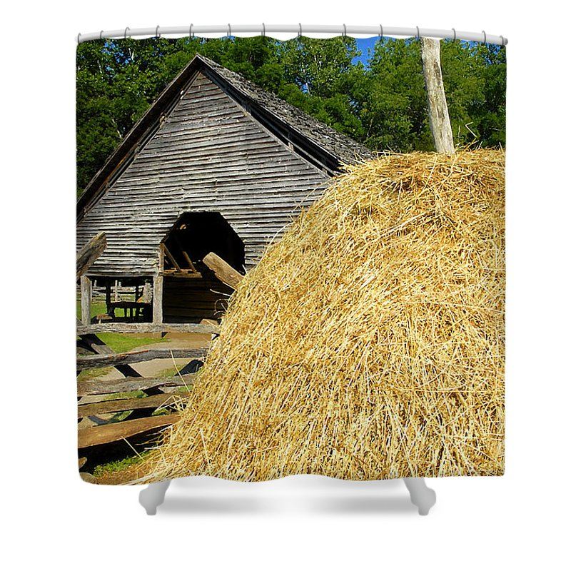 Harvest Shower Curtain featuring the photograph Harvest by David Lee Thompson