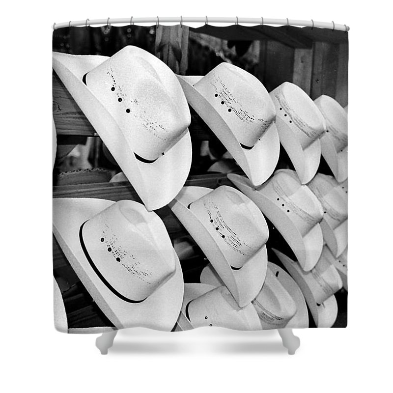 Hat Shower Curtain featuring the photograph Hat And Boot Store Nashville Tn by Joseph Mari