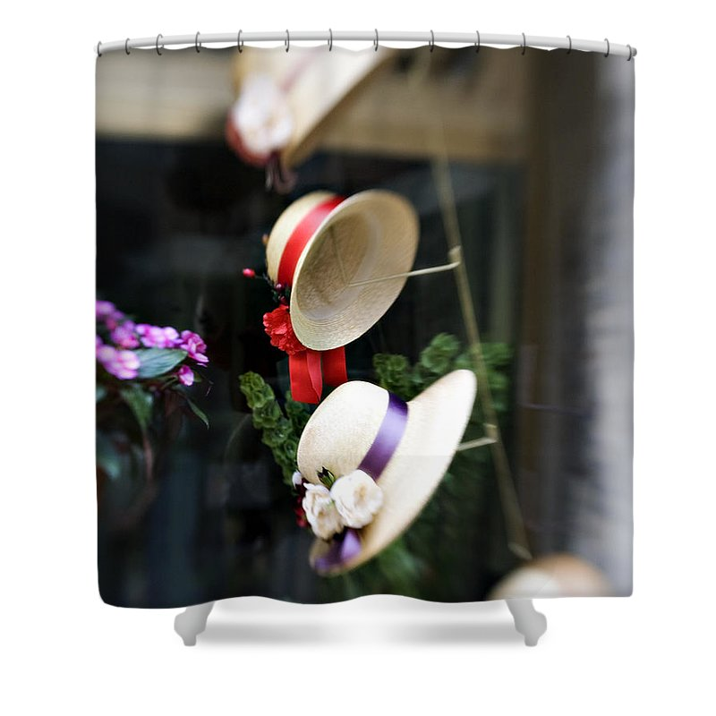 Hat Shower Curtain featuring the photograph Hat Rack by Marilyn Hunt