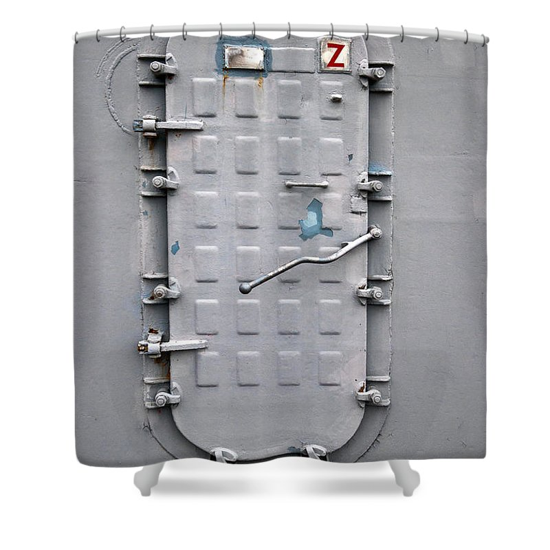 Ship Shower Curtain featuring the photograph Hatch Secured by Christopher Holmes