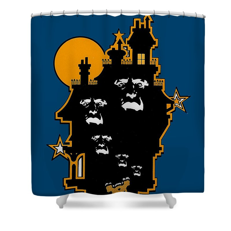 Ghosts Shower Curtain featuring the drawing Haunted by Lance Miyamoto