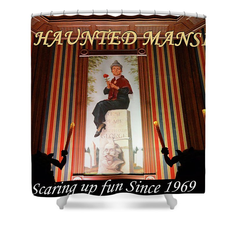 The Haunted Mansion Shower Curtain Featuring Photograph 1969 By David Lee Thompson
