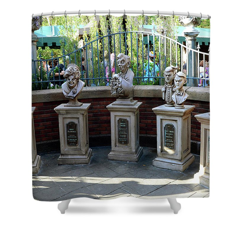 Haunted Mansion Shower Curtain Featuring The Photograph Characters By David Lee Thompson