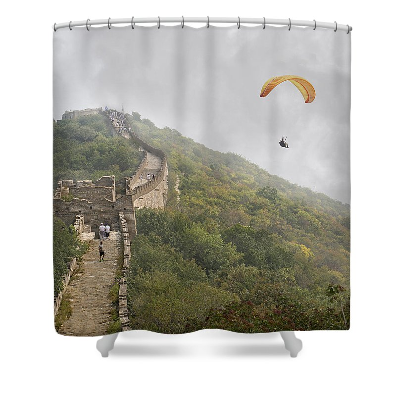 The Shower Curtain featuring the photograph Haunting Great Wall by Betsy Knapp