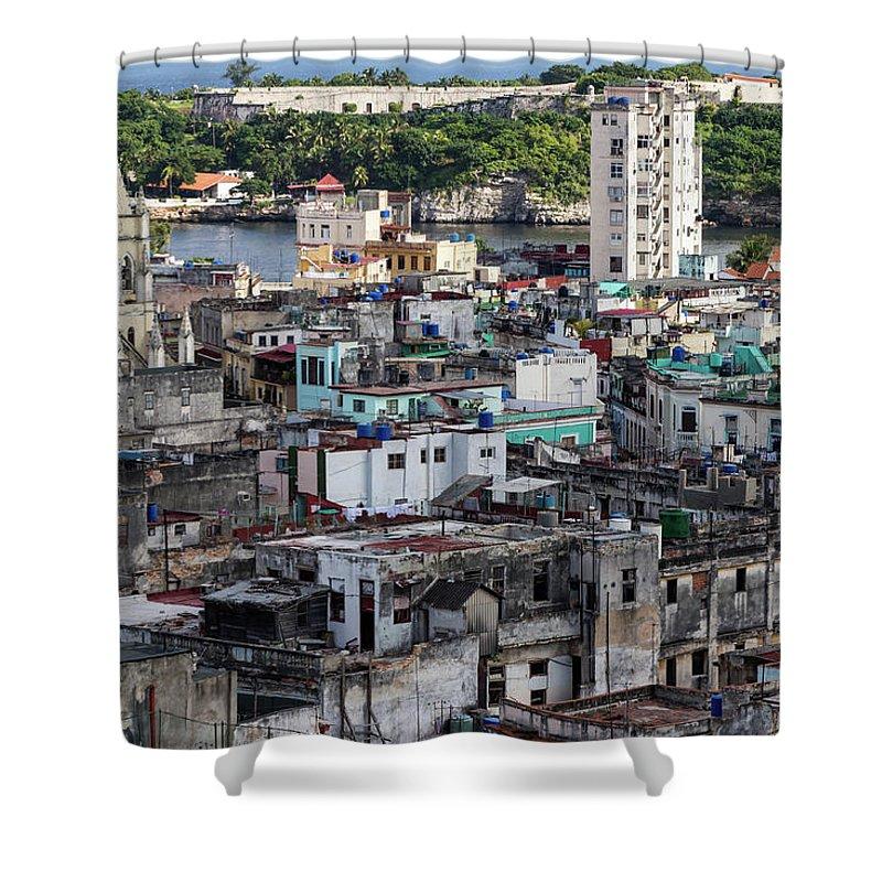 Street Shower Curtain featuring the photograph Havana Cityscape by Brigitte Mueller