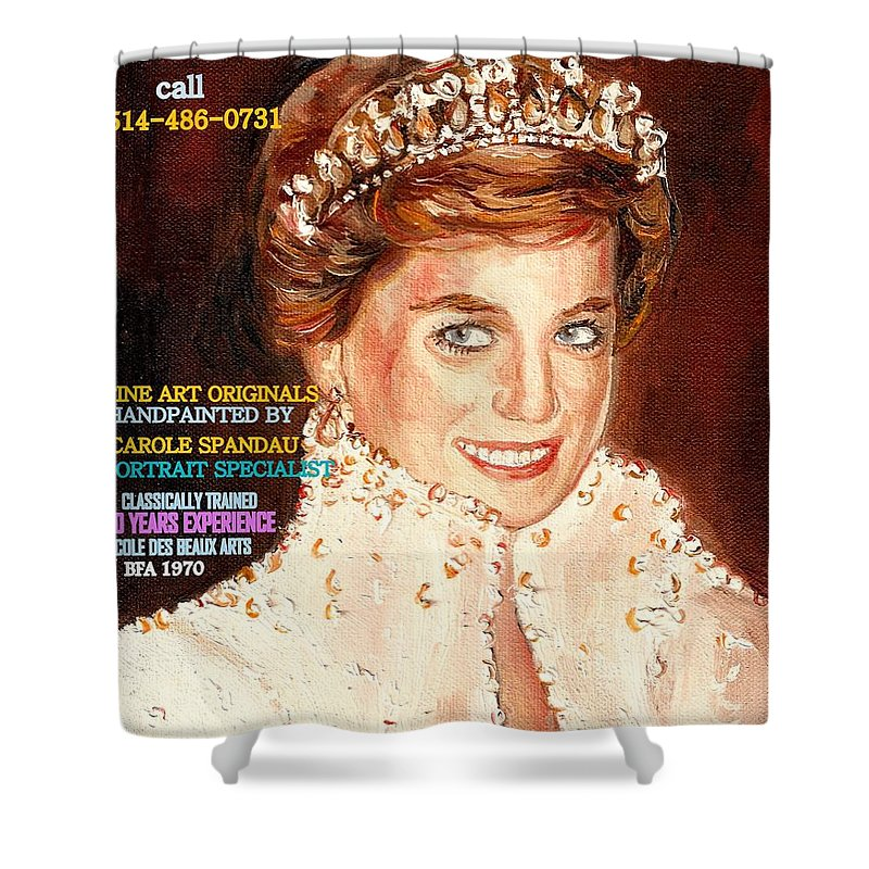 Commissioned Portraits Shower Curtain featuring the painting Have Your Portrait Painted Contact Carole Spandau 30 Years Experience by Carole Spandau