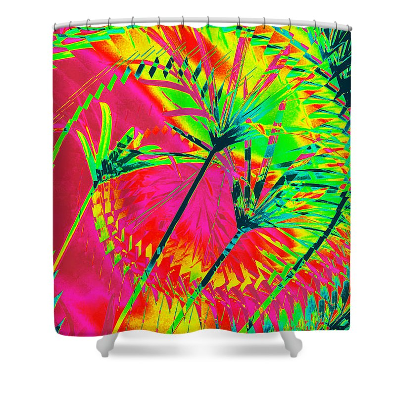 Greens Shower Curtain featuring the photograph Hawaii Three O by Donna Bentley