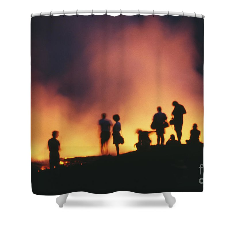 Active Shower Curtain featuring the photograph Hawaii Volcanoes National Park by Bob Abraham - Printscapes