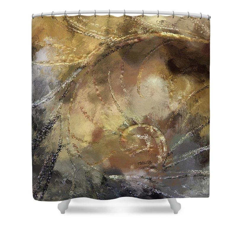 Hawaiian Shower Curtain featuring the painting Hawaiian Sea Shell by Kedoki