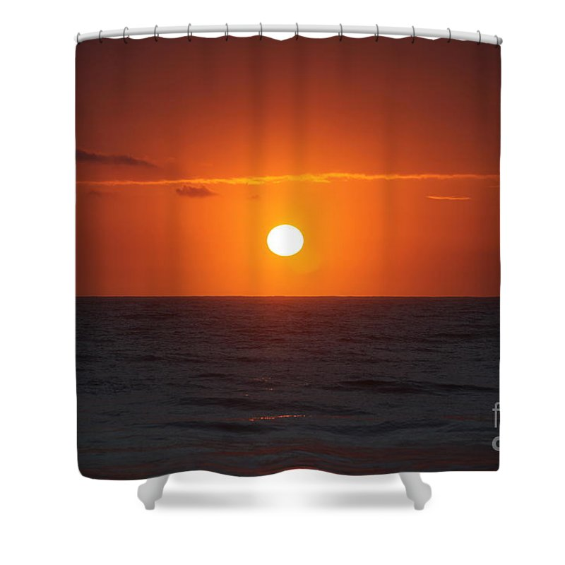 Sunrise Shower Curtain featuring the photograph Hawaiian Sunrise by Nadine Rippelmeyer
