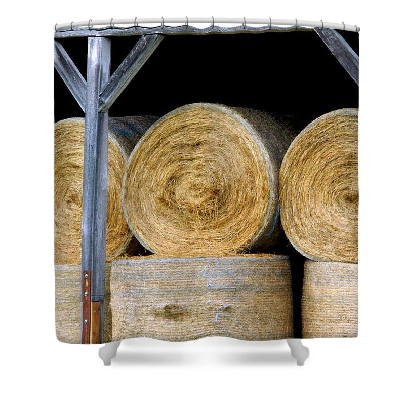 Hay Shower Curtain featuring the photograph Hay Barn by Arlane Crump