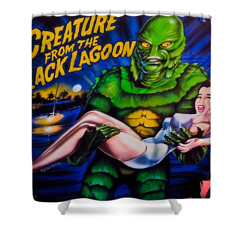 Airbrush Shower Curtain featuring the photograph He Gets The Girl by DigiArt Diaries by Vicky B Fuller