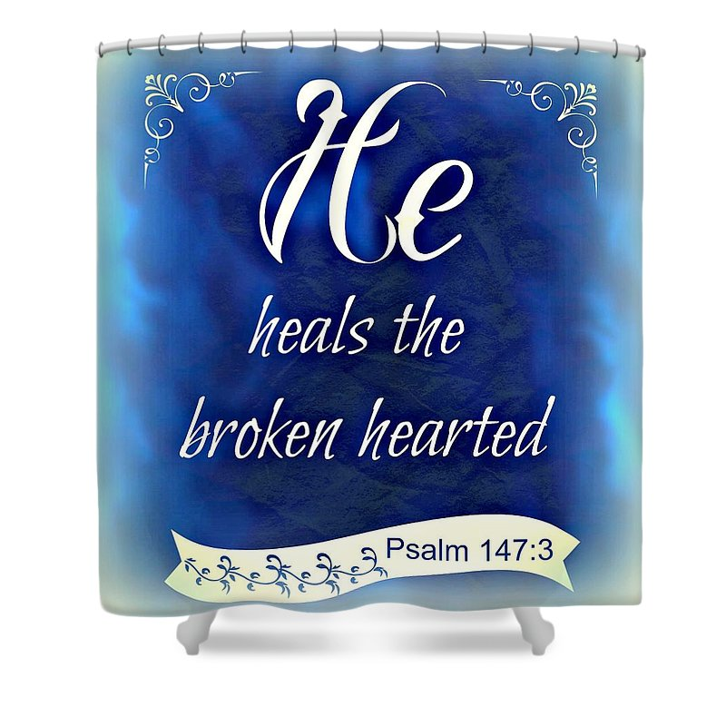 Kathy Bucari Shower Curtain featuring the photograph He Heals by Kathy Bucari