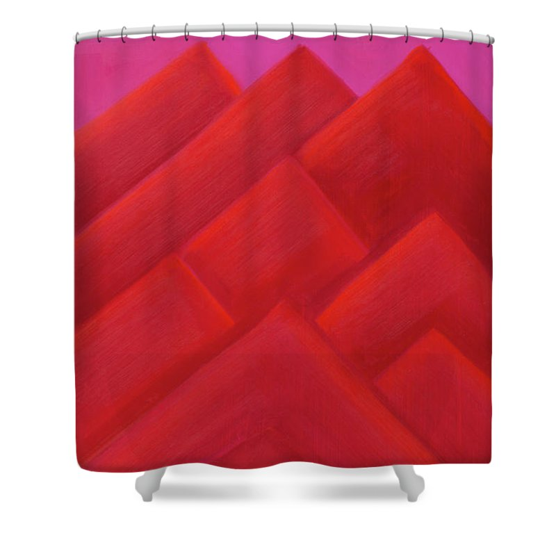 He Tu Shower Curtain featuring the painting He Tu Fire by Adamantini Feng shui