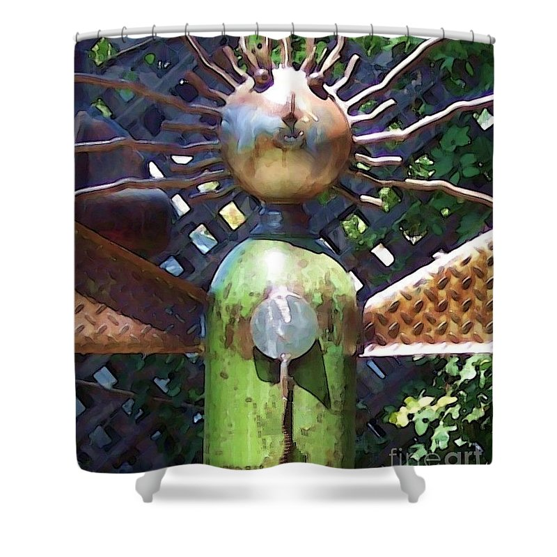 Sculpture Shower Curtain featuring the photograph Head For Detail by Debbi Granruth