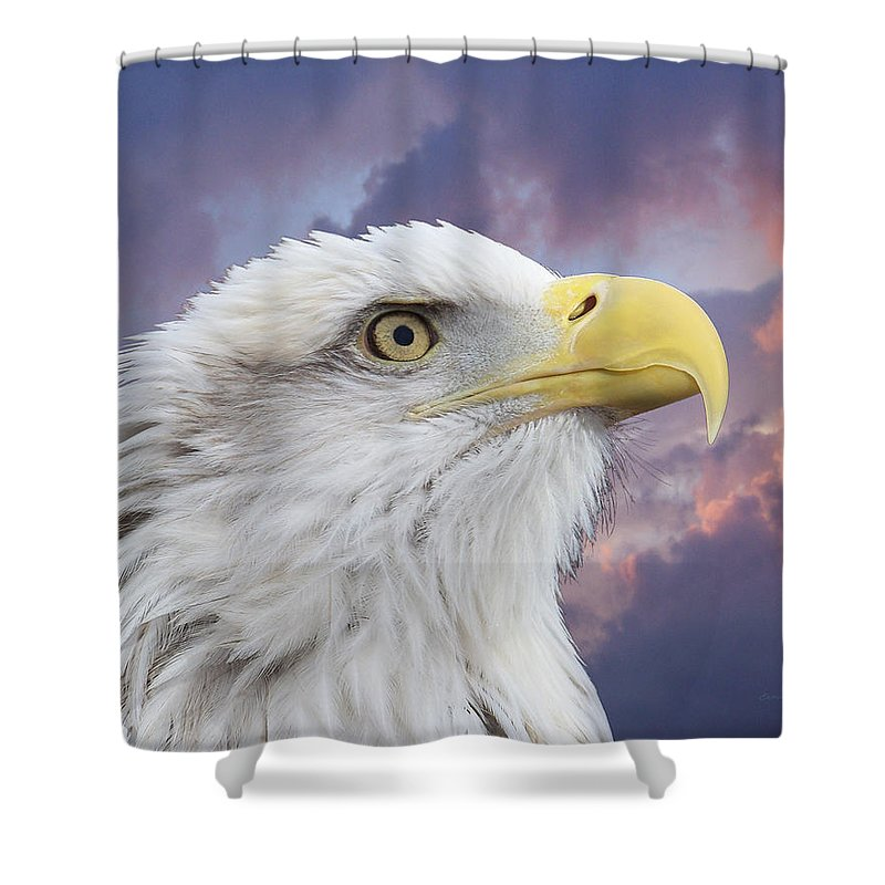 Animals Shower Curtain featuring the photograph Head In Clouds by Ernie Echols
