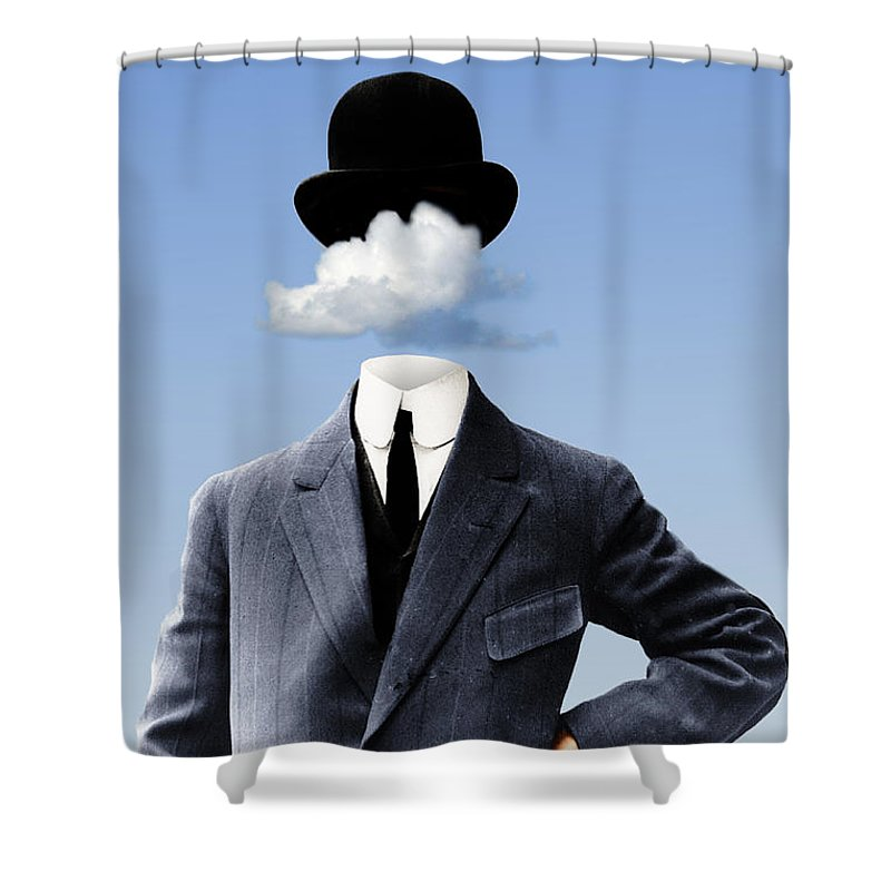 head In The Clouds Shower Curtain featuring the digital art Head In The Clouds by Kenneth Rougeau