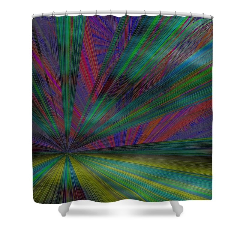 Abstract Shower Curtain featuring the digital art Head In The Clouds by Tim Allen
