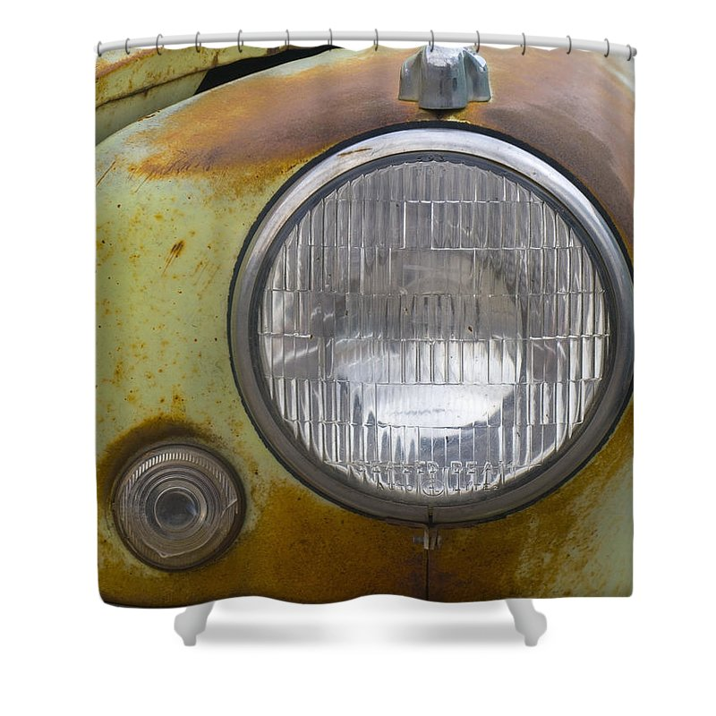 Vintage Shower Curtain featuring the photograph Head Light by Jeffery Ball