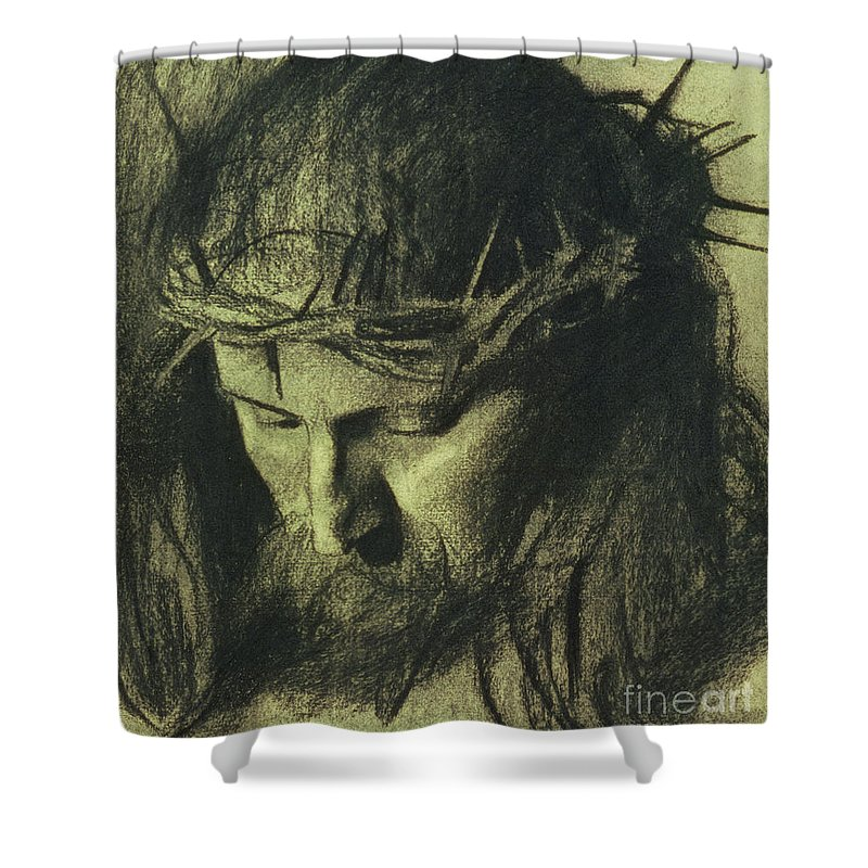 Religious Drawings Shower Curtains