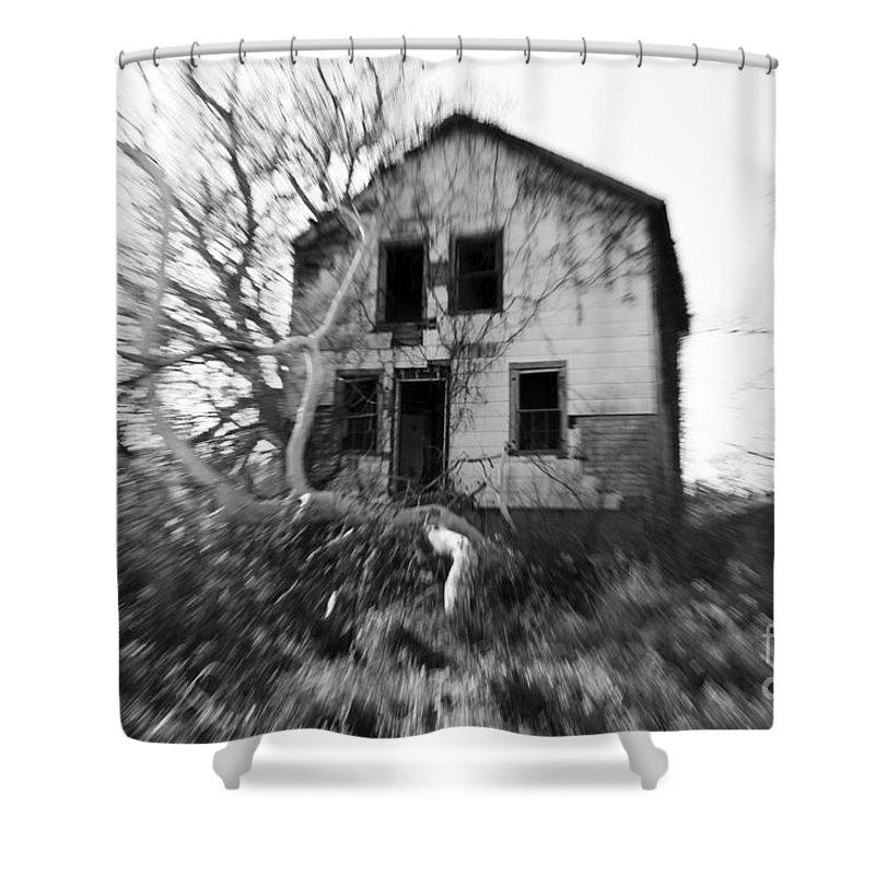 Headache Shower Curtain featuring the photograph Headache by Amanda Barcon