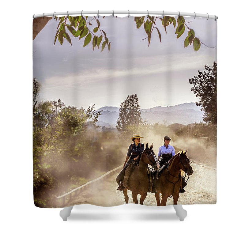 Andalucia Heat Shower Curtain featuring the photograph Heading Home by Peter Hayward Photographer
