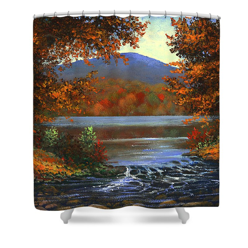 Landscape Shower Curtain featuring the painting Headwaters by Frank Wilson