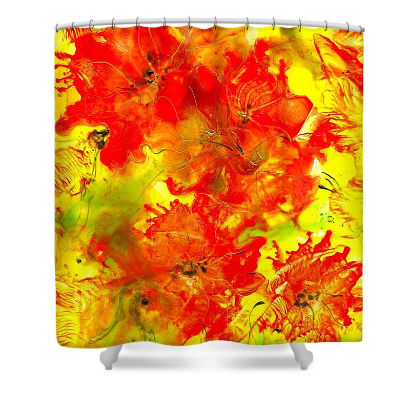 Healing Shower Curtain featuring the painting Healing 080109 by Heather Hennick