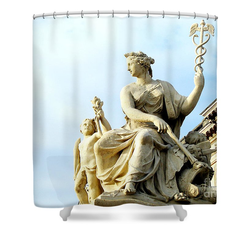 Statues Shower Curtain featuring the photograph Healing by Amanda Barcon