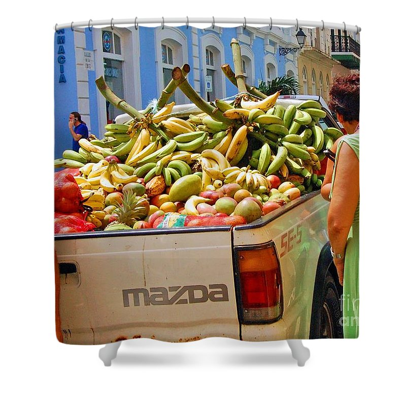 Fruit Shower Curtain featuring the photograph Healthy Fast Food by Debbi Granruth