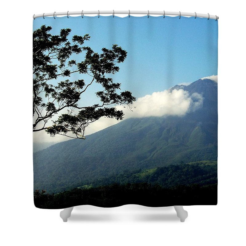 Volcanos Shower Curtain featuring the photograph Hear The Winds Blow by Karen Wiles