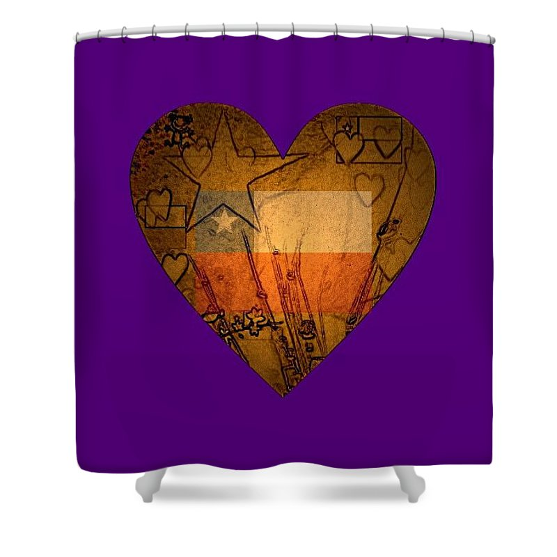 Shower Curtain featuring the painting Heart For Texas by Robert Clark