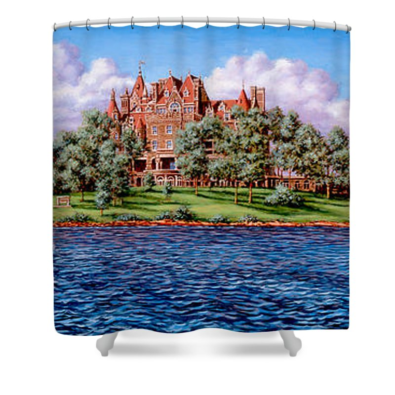 Castle Shower Curtain featuring the painting Heart Island by Richard De Wolfe