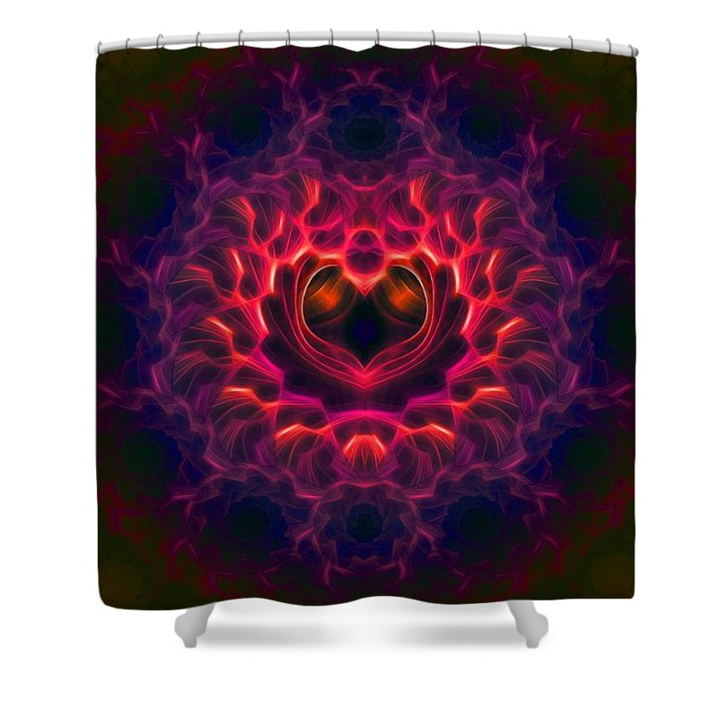 Fractal Shower Curtain featuring the digital art Heart Of Darkness by Lyle Hatch