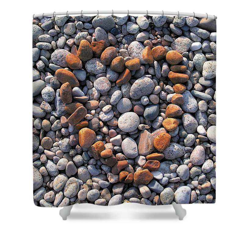 Heart Shower Curtain featuring the photograph Heart Of Stones by Charles Harden