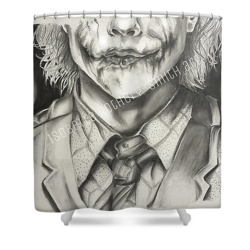 Heath Ledger Joker Pencil Sketch Shower Curtain
