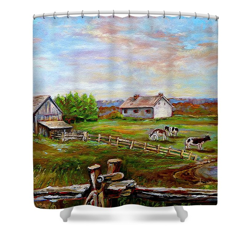 Ile D'orleans Shower Curtain featuring the painting Heaven On Earth by Carole Spandau