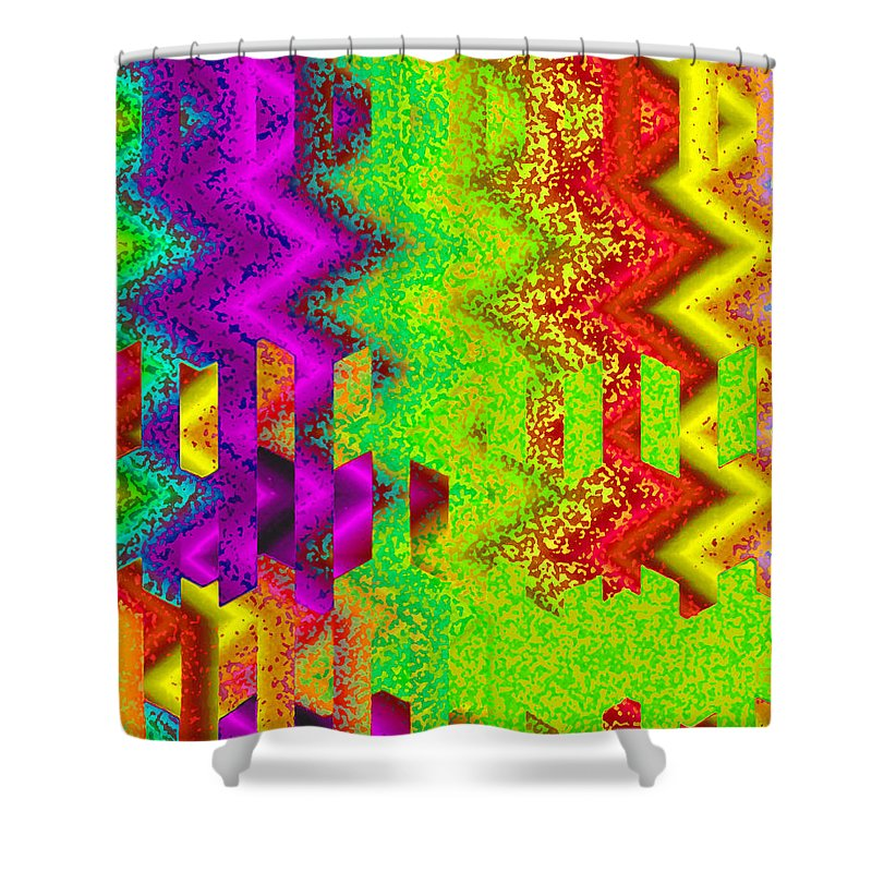 Abstract Shower Curtain featuring the digital art Heaven by Ruth Palmer