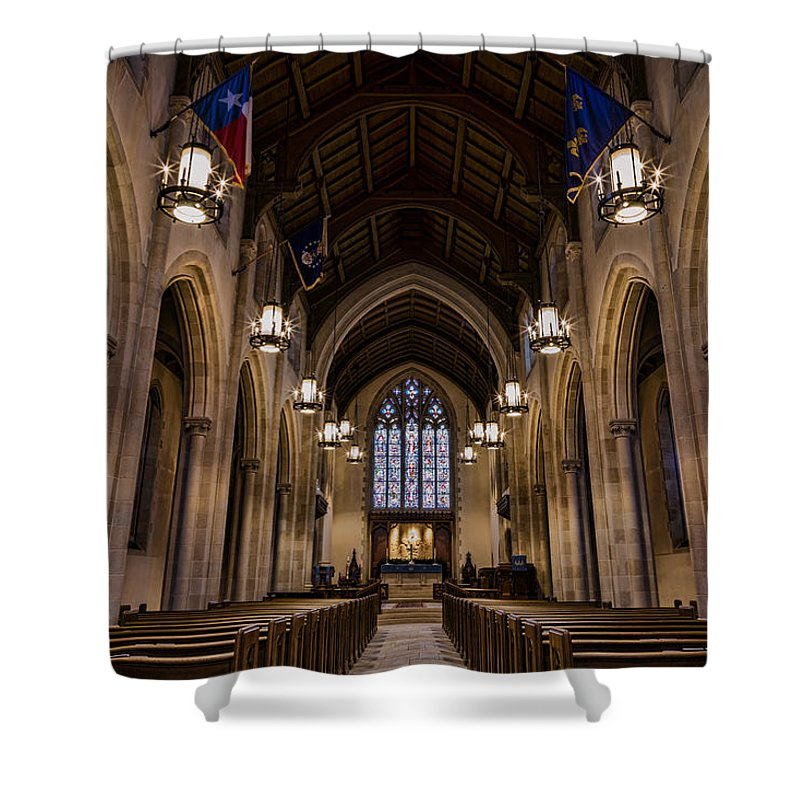 Abilene Shower Curtain featuring the photograph Heavenly Rest Sanctuary by Stephen Stookey