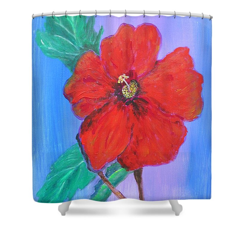 Acrylic Shower Curtain featuring the digital art Heavenly Scent by Maria Watt