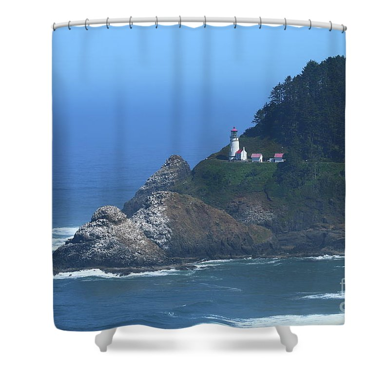 Stone Shower Curtain featuring the photograph Heceta Head by Christiane Schulze Art And Photography