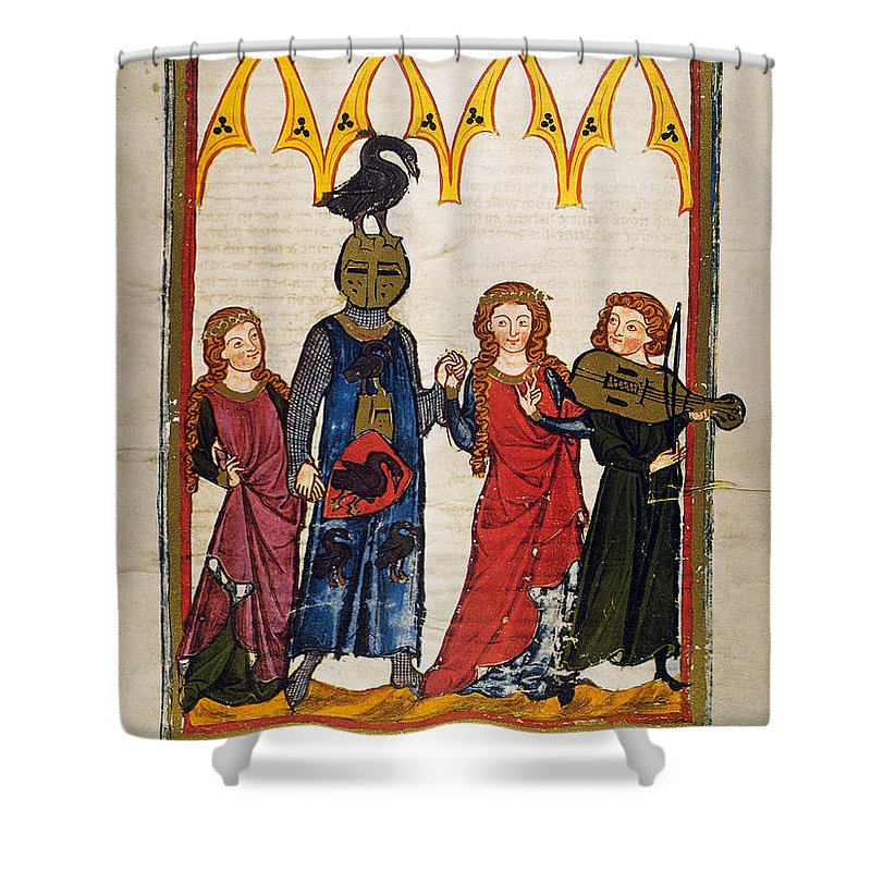 14th Century Shower Curtain featuring the photograph Heidelberg Lieder, C.14th by Granger