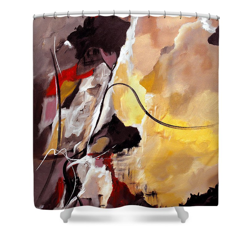 Abstract Shower Curtain featuring the painting Held by Ruth Palmer