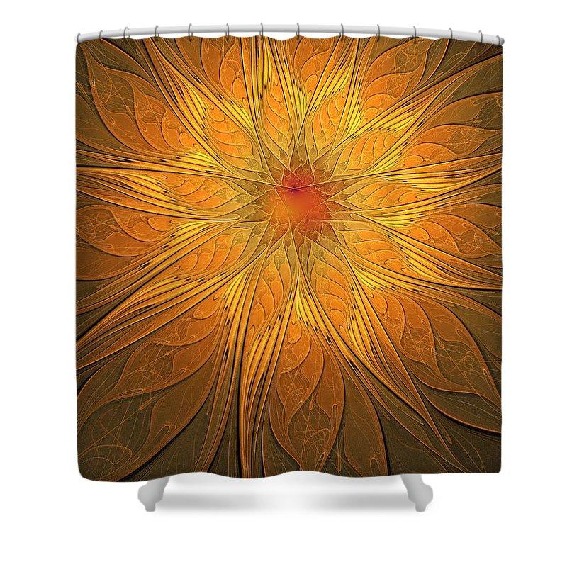 Digital Art Shower Curtain featuring the digital art Helio by Amanda Moore
