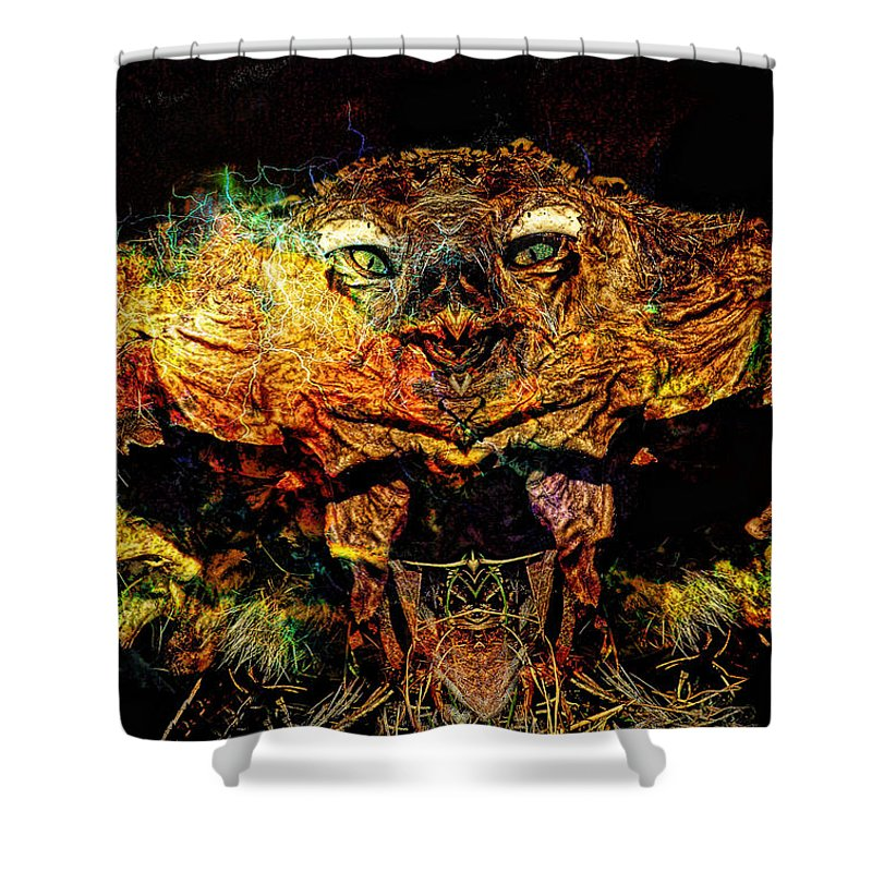 Scary Shower Curtain featuring the photograph Hell Bird by Bob Welch