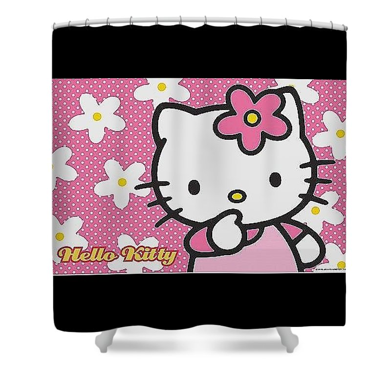Hello Kitty Wallpaper Hd Free Luxury Free Of Hello Kitty Wallpaper With Floral Pink Background Shower Curtain For Sale By Barbora Bradacova