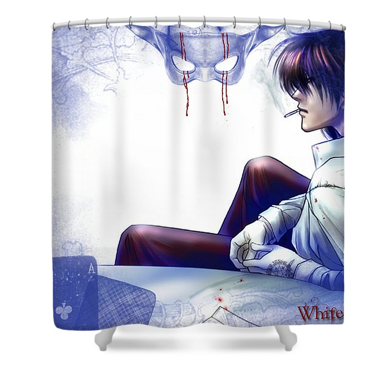 Hellsing Shower Curtain featuring the digital art Hellsing by Zia Low