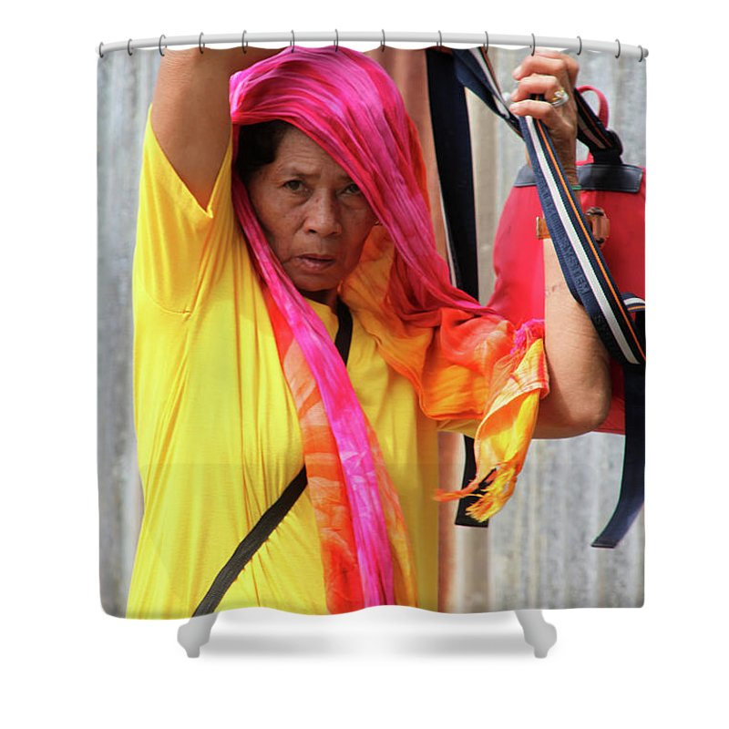 Mati Shower Curtain featuring the photograph Help Me Out Of This And More by Jez C Self